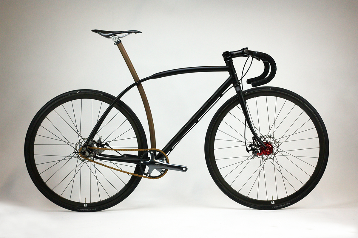 Mike Hall S Single Speed Saffron Frameworks Bicycle
